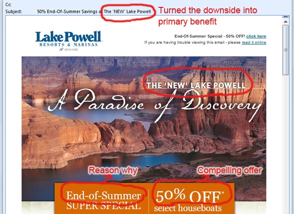 Email advertisement example